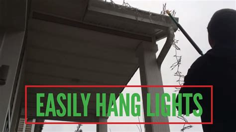 easily hang christmas lights without a ladder youtube