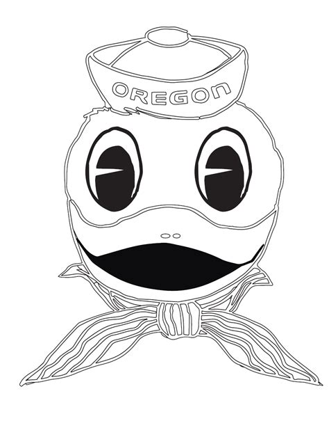 coloring pages oregon ducks oregon duck mascot colouring pages page 2