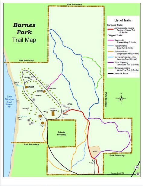 86th District Court Records Barnes Park Trail Map