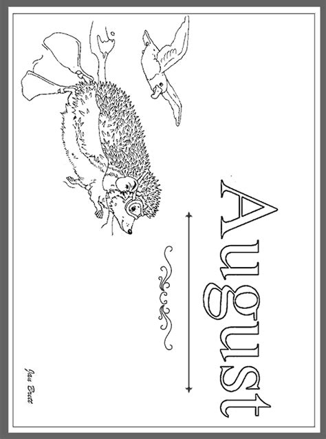 coloring pages august coloring pages printable