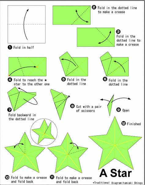 printable origami star instructions 11 best photos of paper star directions origami star