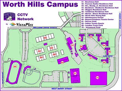 tcu map tcu cctv network