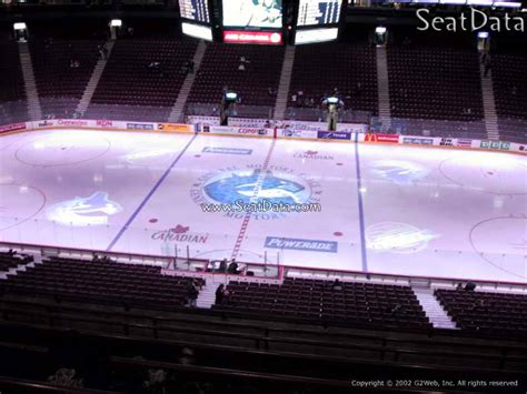 club section rogers arena rogers arena section 307 vancouver canucks