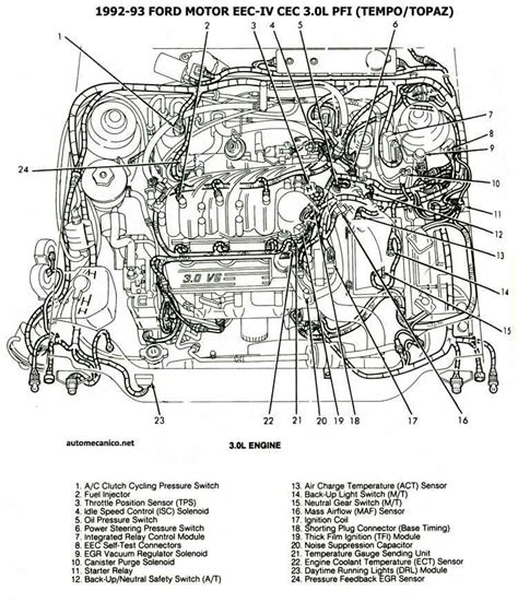 automotive repair manual 1989 ford tempo seat position control mercury topaz 2 3 1989 auto images and specification