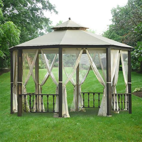 canopy tent with awning sears garden oasis octagon gazebo replacement canopy