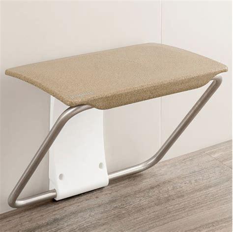 wet room bench impey slimfold shower bench sandstone