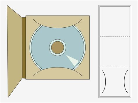 Cd Card Wallet Template by Vector Graphics Of A Printable Cd Template