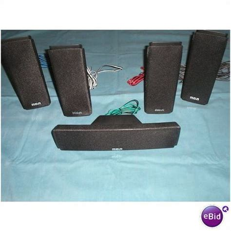 rca speakers home theater system 5 pc set rtd317w on
