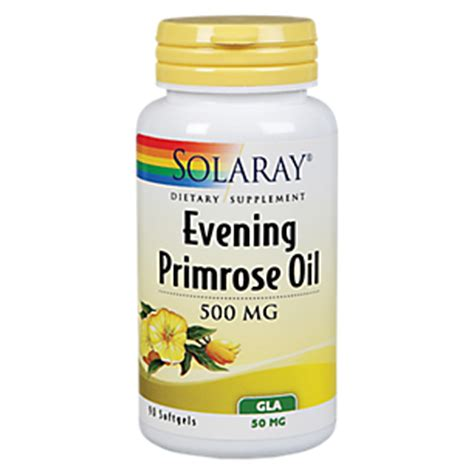 Evening Primrose 500mg evening primrose 500 mg 90 capsules by solaray at the vitamin shoppe