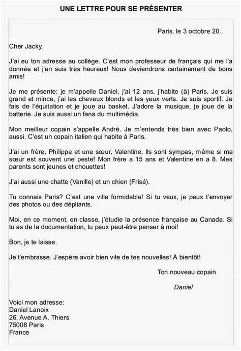 Lettre De Presentation En Francais des lettres en fran 231 ais mod 232 le courrier professionnel