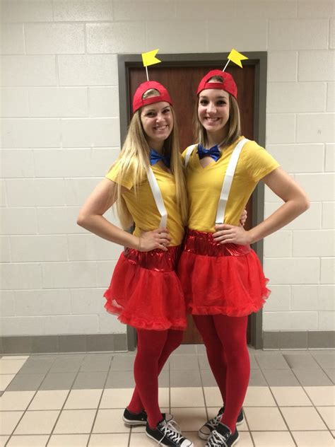 7 Costumes For Your High School by Best Friend Day For School Spirit Week Tweedledee