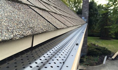 decorating with leaf guards gutter rx gutter guard fits 5 and 6 inch gutters diy or pro installation