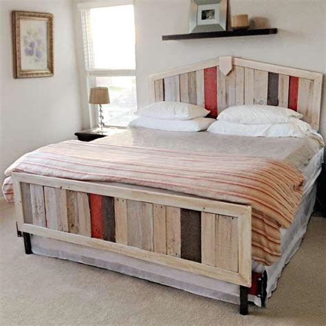 diy wood pallet bed 10 diy beds made out of pallets wooden pallet furniture
