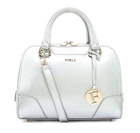 Furla Metro Large furla dolly silver sanffiano leather satchel