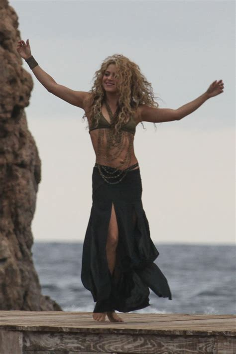 best of shakira shakira in a top on the set of a commercial in