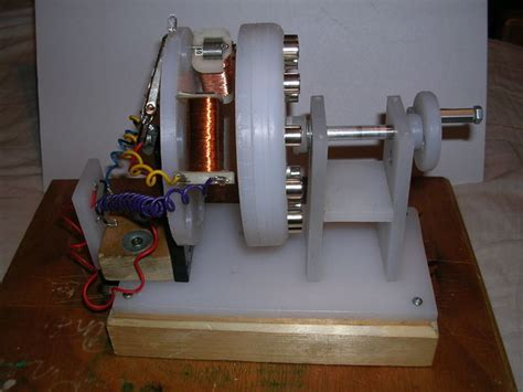 model generator test rig experiments on home made power