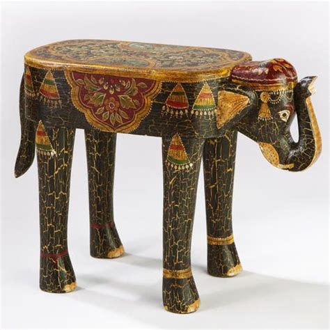 elephant accent table painted elephant wood accent table bonita pinterest
