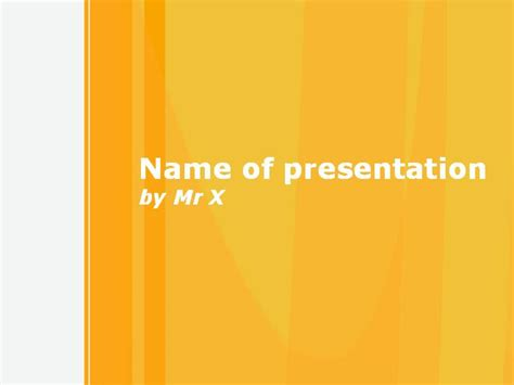 Simple Orange Theme Powerpoint Template