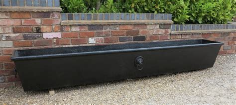 garden wall troughs cast iron tapered garden planter or trough