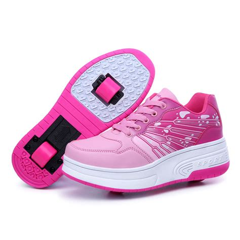 kid roller shoes heelys roller skate shoes 2 wheel heelys for boy and
