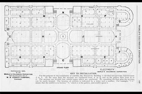 Smithsonian Floor Plan by The Official Directory Of The World S Columbian Exposition