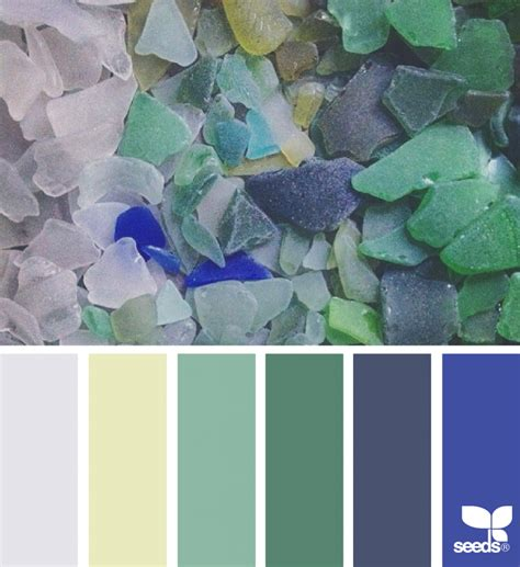 design seeds sea glass hues design seeds