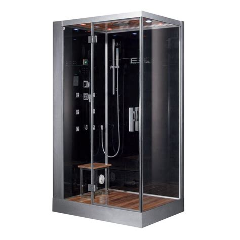 home depot steam shower ariel 48 in x 48 in x 89 in steam shower enclosure kit
