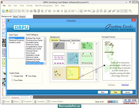 card software for mac greeting card maker software screenshots barcodefor us