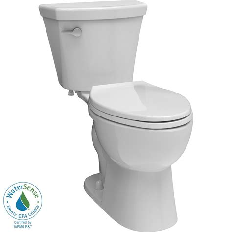 delta turner 2 piece 1 28 gpf elongated toilet in white