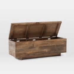 emmerson reclaimed wood storage bench west elm