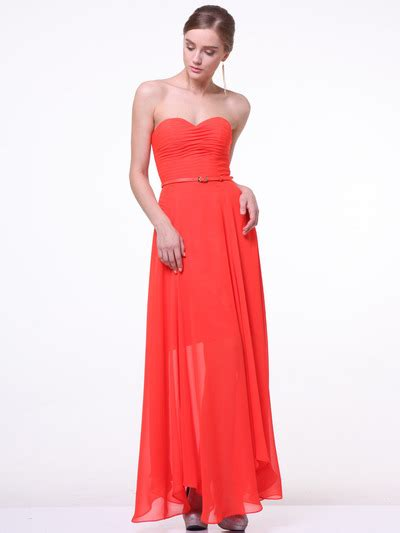 Royal Dress Balotelly Tangerine Berkualitas 12 strapless pleated sweetheart evening dress sung boutique l a