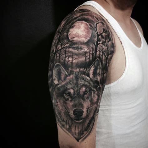 wolf forest tattoo wolf black izbira tatooja primer