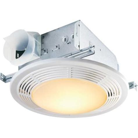 round bathroom fan light combination nutone decorative white 100 cfm ceiling exhaust bath fan