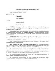 Assignment Of Lease Template by Assignment Of Lease Form Free