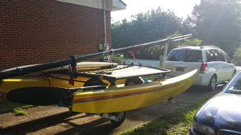 minivan boat hobie forums view topic towing a hobie 16 or 18 behind