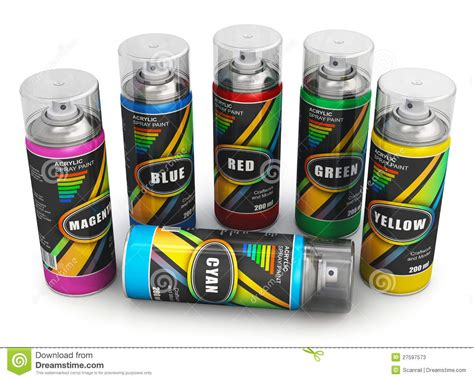 spray paint time spray paint cans stock illustration image of painting