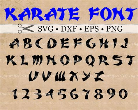 Karate Letter Karate Font Svg Dxf Eps Png Asian Monogram Svg Letters