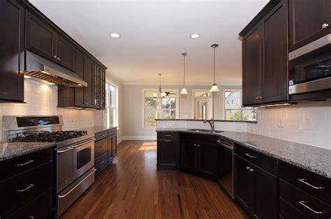 kitchen backsplash for dark cabinets dark kitchen cabinets white subway tile backsplash