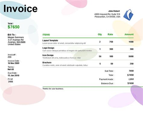 invoice template for graphic designer freelance 17 best images about invoices on creative ux ui designer and search