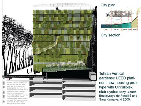 vertical garden section tehran vertical garden housing prototype claude
