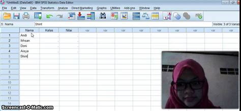 spss tutorial input data tutorial cara input data di spss 19 youtube