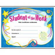 student of the week colorful classics certificates