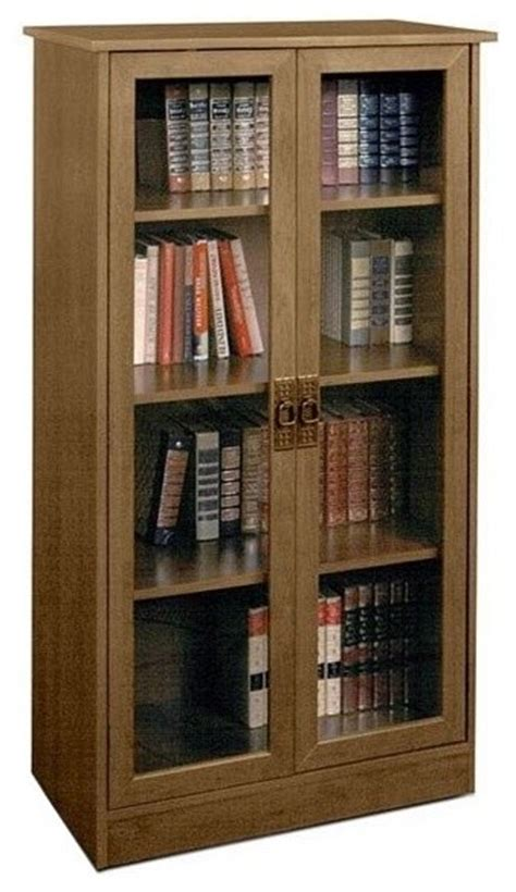 sauder barrister bookcase 4 glass door ameriwood 4 shelf glass door barrister bookcase in