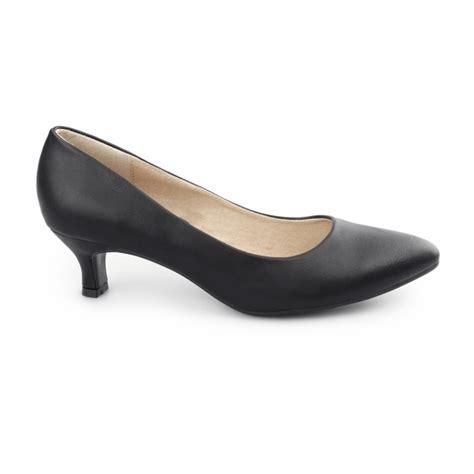 comfort kitten heels comfort plus texas ladies faux leather court kitten heel
