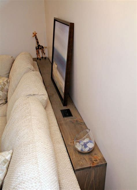 behind the sofa storage narrow storage behind the sofa make with 1x4 quot lumber