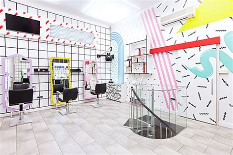 80s hair salon interior 80s redux memphis inspired design at the yms hairstyle