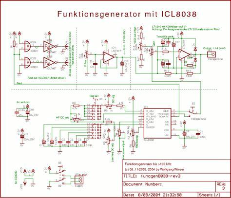 electronics icl8038 based oscillator
