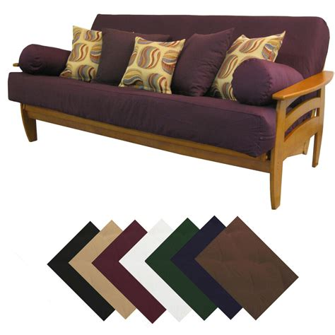 futon slipcover solid upholstery grade futon cover choose size color ebay