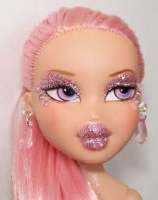 commissioned doll pinky bratz cupcake pink saran hair flickr
