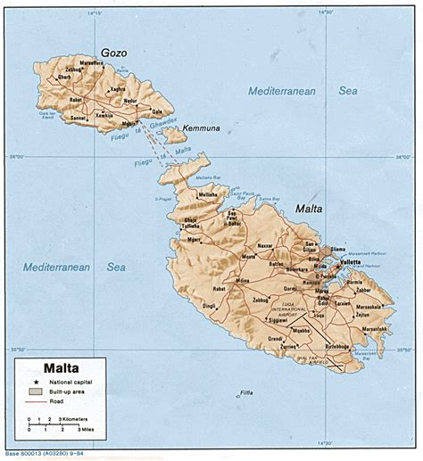 map of malta nationmaster maps of malta 3 in total